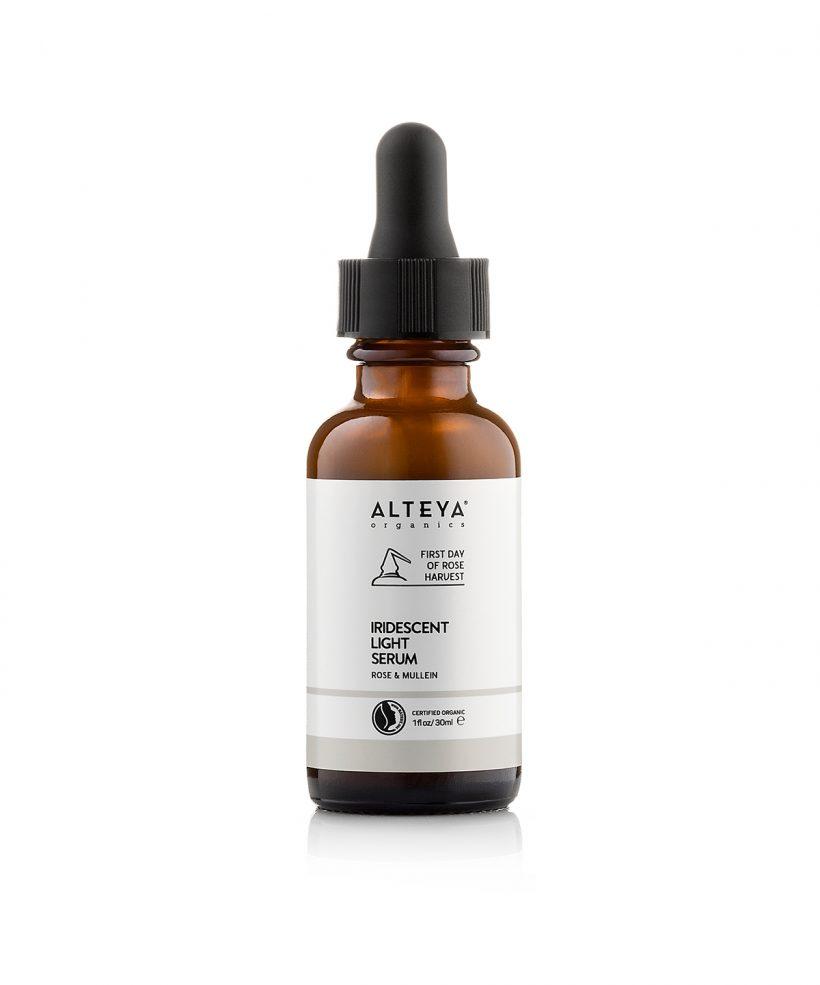 Bio-kozmetika-za-litse-bio-ozariavasht-serum-roza-i-lopen-ot-alteia-organiks